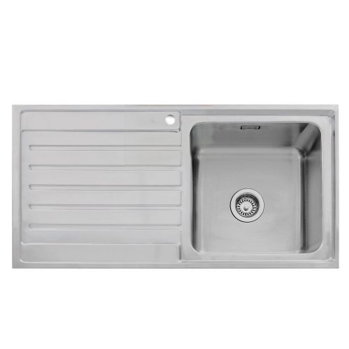 Caple Vanga 100 Stainless Steel Single Bowl Inset Kitchen Sink